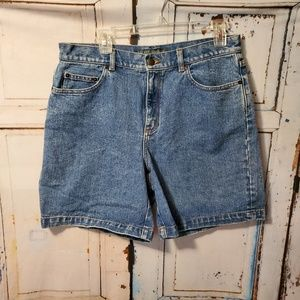Lauren Jeans Co Denim Shorts Size 10 100% Cotton